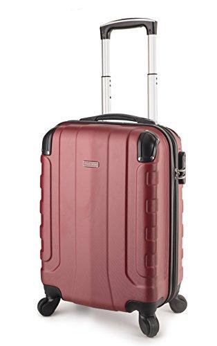 Super Hardshell (TravelCross Chicago Carry On Lightweight Hardshell Spinner Luggage - Red)