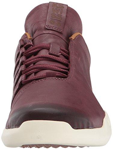 Mens K-swiss Gen-k Icona Sneaker Granata Nero / Marrone Chiaro Totalmente