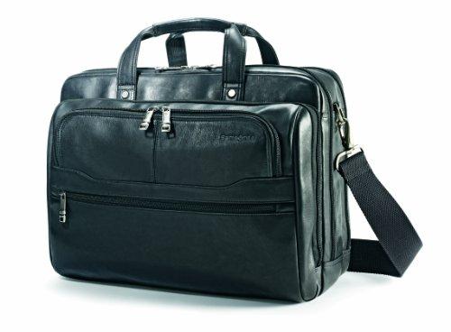 Samsonite Vachetta Leather 2 Pocket Business Case - Briefcase Expandable Leather Samsonite