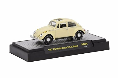 New 1:64 AUTO-THENTICS VOLKSWAGEN SERIES 3 - 1967 Lime Green Metallic VW BEETLE DELUXE USA MODEL Diecast Model Car By M2 Machines