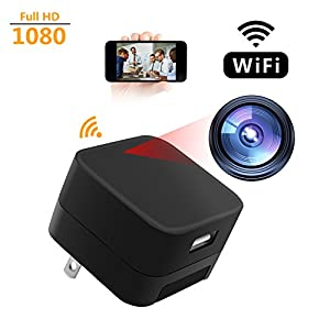 Spy Camera WCXCO Wifi Full HD 1080p Hidden Camera Charger Adapter USB Secret Security Camcorder For Home With Motion Detector
