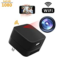 Hidden Spy Camera WIFI Living Feed - Full HD 1080P 26 Ft Wireless Motion Detector USB Charger 7&24 H Video&Photo For Home Surveillance Alarm Spy Adapter Cameras Up To 64 GB Memory Card (No In)