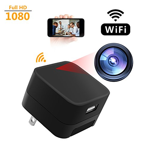 Spy Camera WCXCO Wifi Full HD 1080p Hidden Camera Charger Adapter USB Secret Security Camcorder For Home With Motion Detector by WCXCO