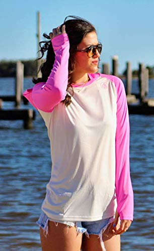 Sun Protection Moisture Wicking Womens Long Sleeve Raglan Hoodie UPF 50