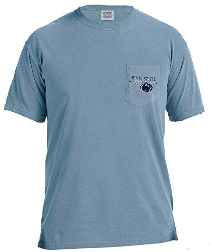 NCAA Penn State Nittany Lions Adventures Short Sleeve Comfort Color Pocket Tee, Large, IceBlue ()