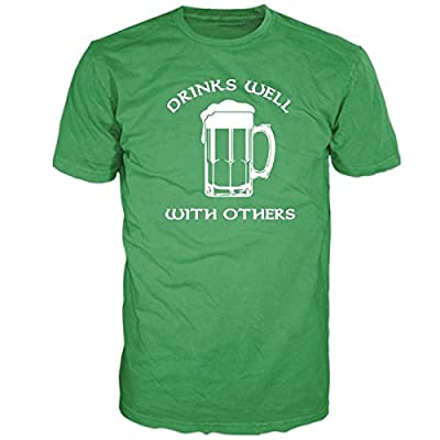 FSD Drinks Well With others Beer Mug Irish Celtic Funny Humor ST Patricks Day Tshirt For Men