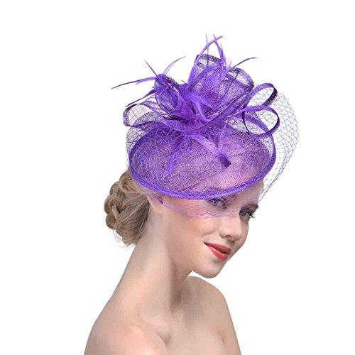 Women's Organza Church Kentucky Derby Fascinator Bridal Cap British Tea Party Wedding Hat -