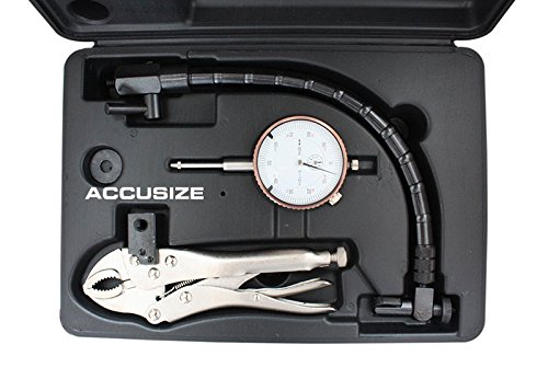 - Accusize Industrial Tools Disc and Rotor/Ball Joint Gage Set, Including a 0-1'' Dial Indicator, a Flexible Arm and a Vise Grip, 0510-0917