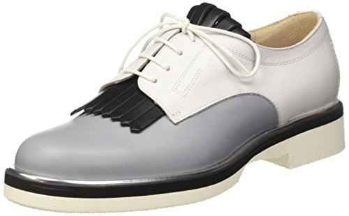 Pollini 865, Scarpe Stringate Donna Multicolore (Stone Calf-black Calf-white Calf Silver-black-white Sole)