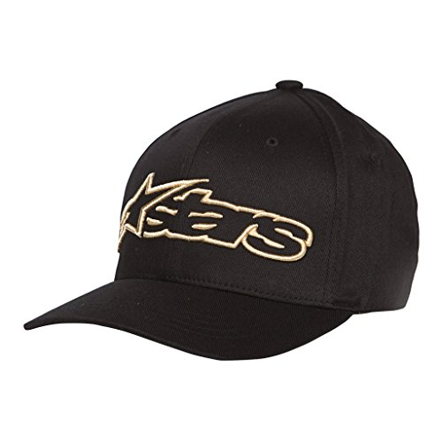 Alpinestars Blaze Flexfit Hat-Black/Gold-L/XL