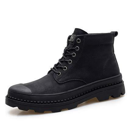 Shukun Herren Stiefel Herren Martin Stiefel Herren Wild High Snow Stiefel Herren Winter Warm Cotton Schuhe in der Tooling Army Stiefel