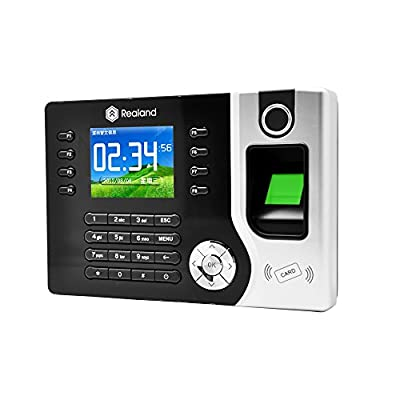 Realand A-C071 Smart Sensor ID/IC Fingerprint Attendance Machine, Time Clocks (2.4 Inch TFT Screen, Record Capacity:100000+Fingerprint Capacity:1500+ID Card Capacity:1500) by Realand