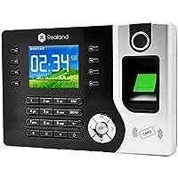 Realand A-C071 Smart Sensor ID/IC Fingerprint Attendance Machine, Time Clocks (2.4 Inch TFT Screen, Record Capacity:100000+Fingerprint Capacity:1500+ID Card Capacity:1500)