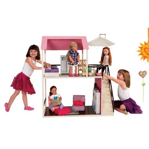 (Our Generation Wooden Dollhouse)