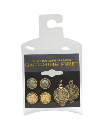 NECA The Hunger Games: Catching Fire Peeta Earrings, Set of 3 -