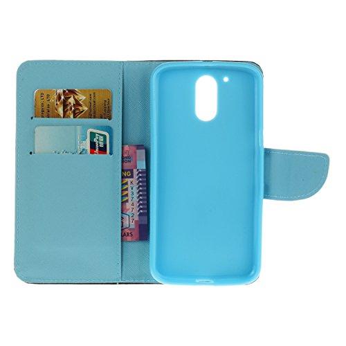 Ecoway Serie pintada Caja del teléfono de moda para Motorola Moto G4 / G4 Plus - Couple Couple