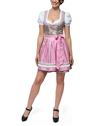 Stockerpoint Dirndl Michelle, Vestido Tradicional Austriaco para Mujer Rosa (Rose Rose)