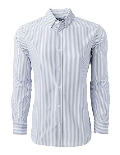 - Mizzen + Main Button Down Shirts for Men | Slim Fit Stretch Dress Shirt | Moisture Wicking | Non-Iron | Wilkes