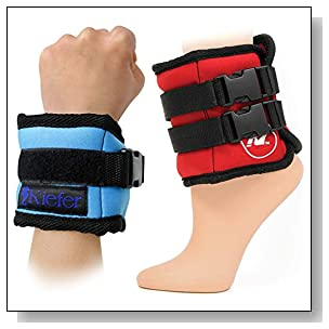 Kiefer 811400-10 Ankle/Wrist Weights (1-Pair), 5 Pounds Each, Black