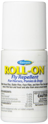 Farnam Roll-On Fly Repellent for Horses, Ponies and Dogs, 2 fl oz