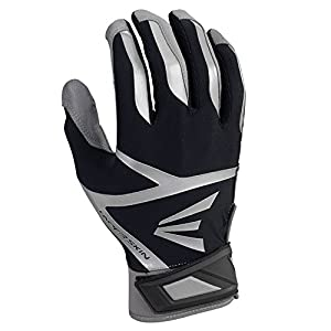 Easton Z7 VRS Hyperskin Youth Batting Gloves, Gray/black, Large