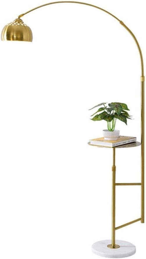 Bzsm Lámpara de pie Nordic Sencilla lámpara de pie Habitación Sala de Hierro Forjado de Suelo LED de luz de la lámpara de pie con Mesa de café Pesca Vertical de la lámpara lámparas da pie