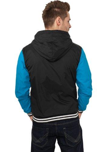 "Urban Classics Jacke ""University Windbreaker"", Größe: S, Farbe: black-turquoise"