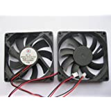 2 pcs Brushless DC Cooling Fan 5V 8015S 9 Blades 2 wire 80x80x15mm Sleeve-bearing Skywalking