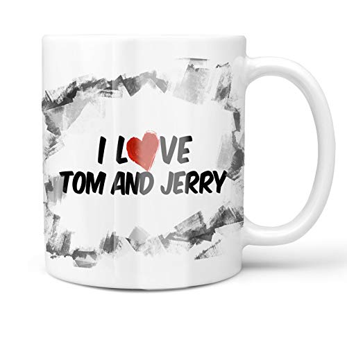 (Neonblond 11oz Coffee Mug I Love Tom and Jerry Cocktail with your Custom Name)
