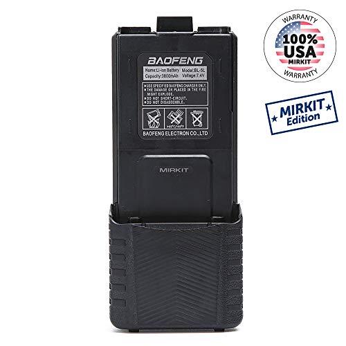 Original Baofeng Li-ion Battery 3800MAh high capacity for UV-5R radio Black ()