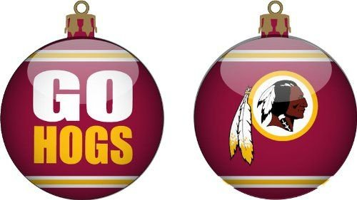 Forever Collectibles Washington Redskins Team Slogan Glass Ball Ornament