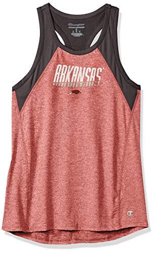 NCAA Arkansas Razorbacks Womens NCAA Women's School Spirit Tank Top Teechampion NCAA Women's School Spirit Tank Top Tee, True Cardinal, Medium