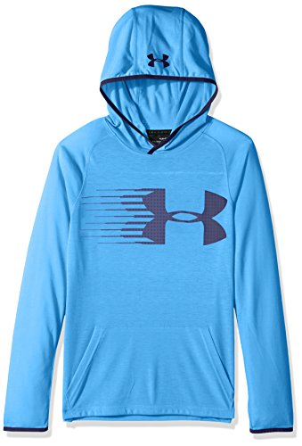 Under Armour Boys' Threadborne Hoodie, Mako Blue/Midnight Navy, Youth Large