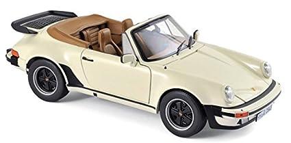 1987 Porsche 911 Turbo Cabriolet Ivory 1/18 Diecast Model Car by Norev 187661