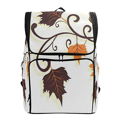 (SLHFPX Laptop Backpack Thanksgiving Autumn Leaves Gym Backpack for Women Big Picnic Bookbag)