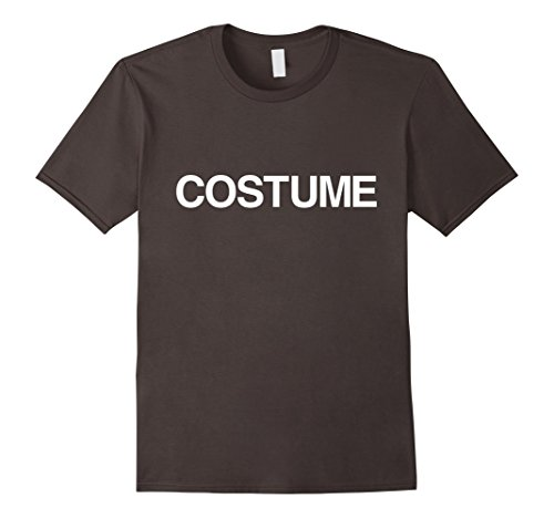 Anti Halloween Costumes (Mens Funny Anti Halloween Lazy costume Tshirt for a Party Small Asphalt)