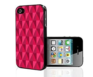 Bright Red Diamond Pattern Hard Snap on Cell Phone Case Cover iPhone (i5 5s) by Maris's Diary
