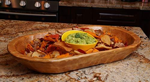 Food Safe Rustic Wooden Dough Bowl-Batea