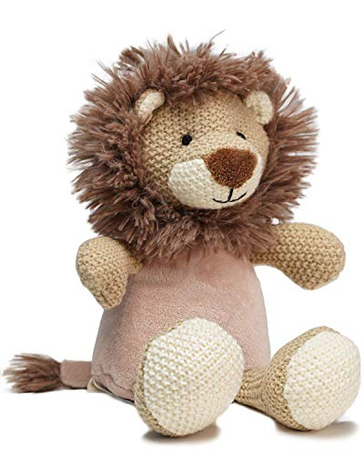 """WILD BABY Microwave Plush Pal Knitted Lion - 12"""" Cute Cozy Heatable Stuffed Animal with Light Lavender Scent Manufacturer: WILD BABY"""