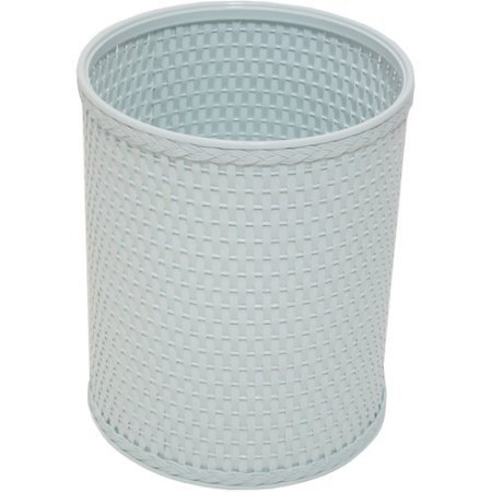 Chelsea Collection Decorator Color Round Wicker Wastebasket R426IB, Illusion Blue