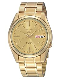 Seiko Men's SNKL48 Automatic-Self-Wind Gold Dial Watch