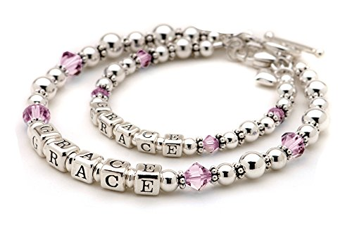 June Crystal Mommy & Me Bracelets - Set of 2 Matching for Mother and Daughter