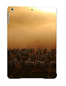 Crazinesswith Case Cover Protector Specially Made For Ipad Air Sheep Flock