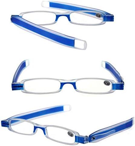 折りたたみ式老眼鏡、 コンパクトPCペンクリップリーダー 360°回転させることができ、傷に強い、