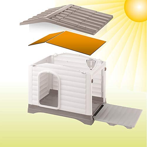 Ferplast Kit de 6 Panneaux Isolants pour Niches pour Chiens Dogvilla90, Kit D'Isolation pour Niches Chiens, Panneaux Isolants Thermiques, Intallation Facile, 74 X 57 X H 9 cm