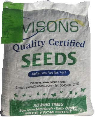 Ivisons 10 Kg Premiership Lawn Seed Football Pitch Grass Seed Super Hard Wearing Seeds