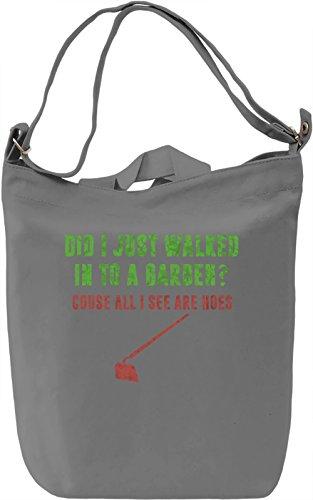 Garden Hoes Borsa Giornaliera Canvas Canvas Day Bag| 100% Premium Cotton Canvas| DTG Printing|