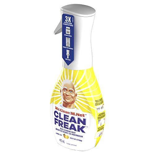 Mr  Clean Freak Deep Cleaning Mist Multi-Surface Spray, Lemon Zest Scent  Starter Kit, 16 fl oz (Pack of 6)