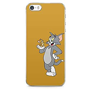 Loud Universe Tom and Jerry are Friends iPhone 5 / 5s Case Classic Cartoon iPhone 5 / 5s Cover with Transparent Edges