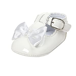 MK MATT KEELY Baby Girls Princess Shoes with Bows Newborn Infant Soft Sole Bowknot Crib Sneakers